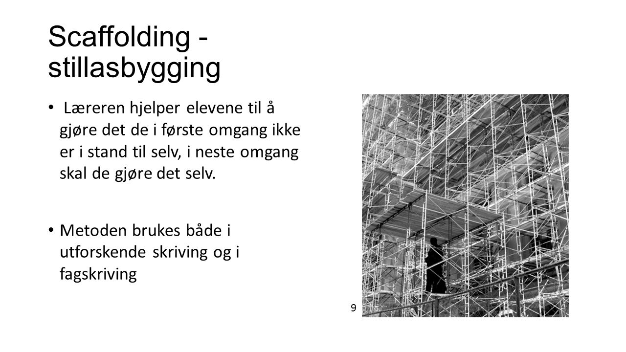 Scaffolding - stillasbygging