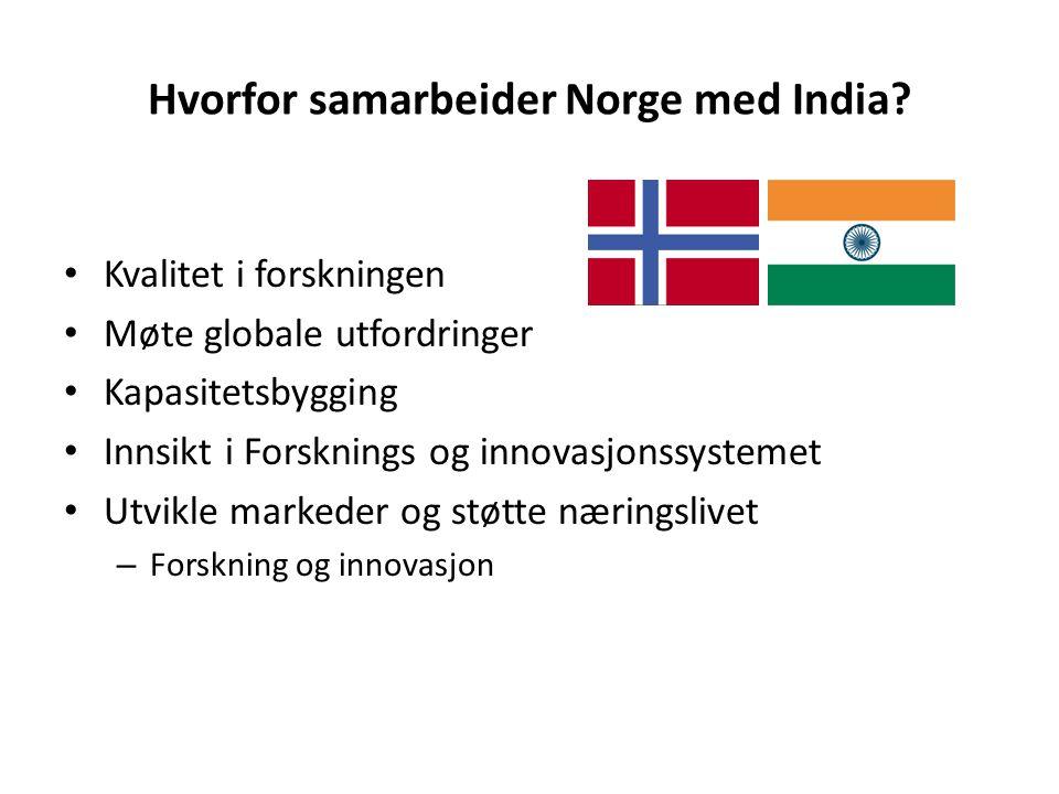 Hvorfor samarbeider Norge med India