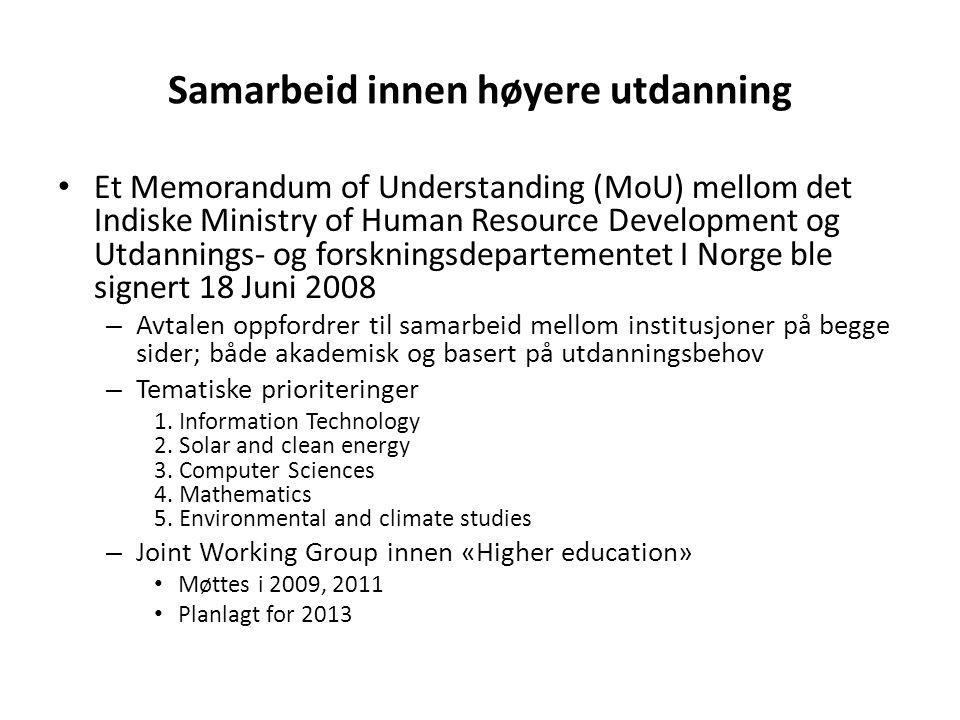 Samarbeid innen høyere utdanning