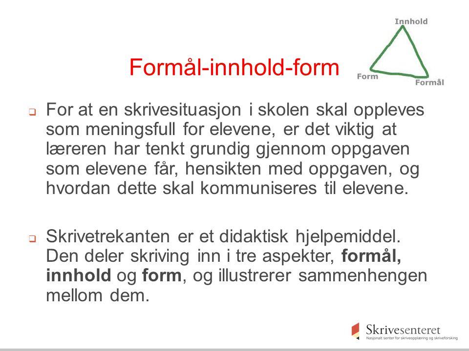 Formål-innhold-form