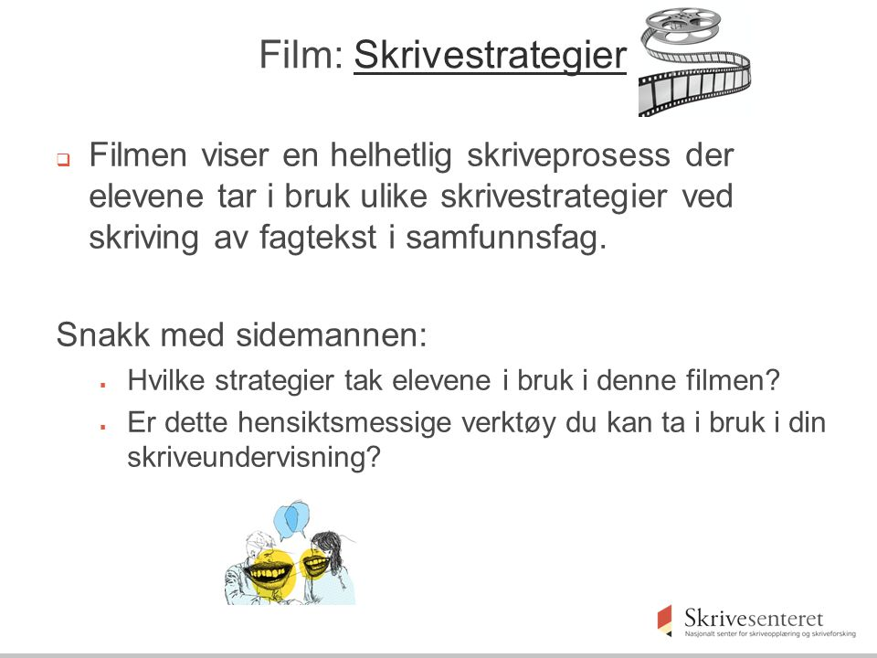 Film: Skrivestrategier