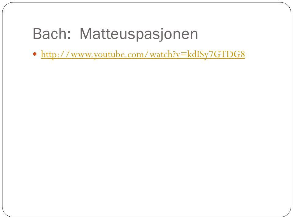 Bach: Matteuspasjonen
