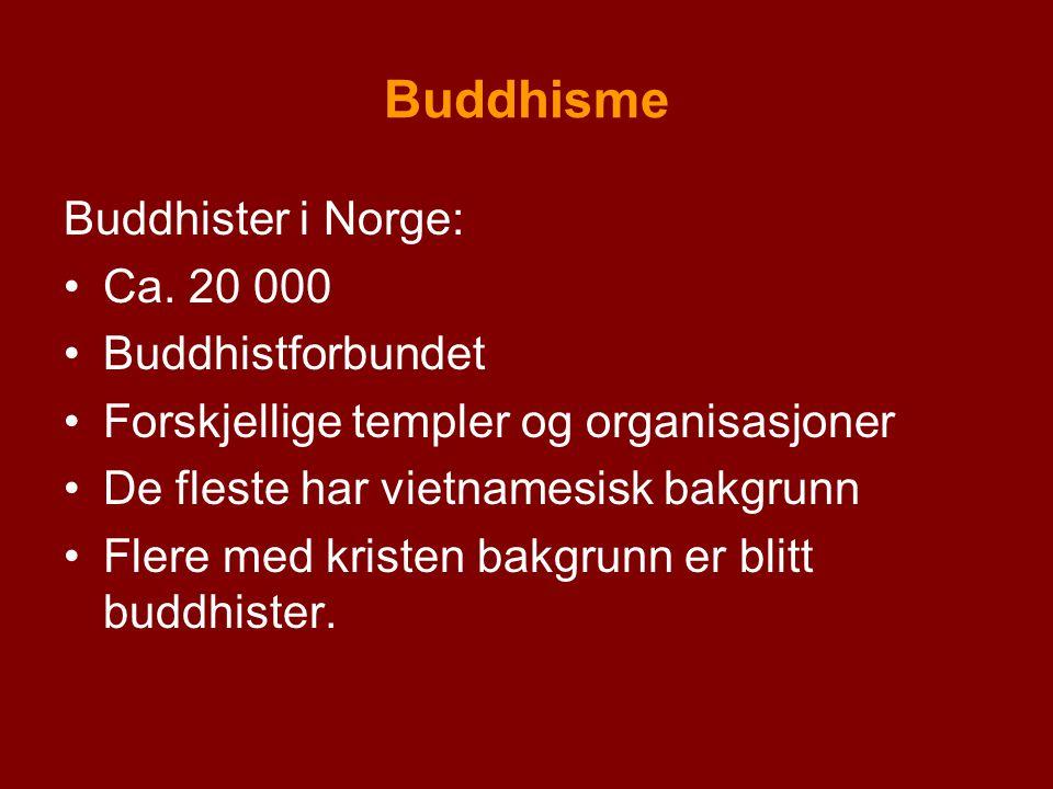 Buddhisme Buddhister i Norge: Ca. 20 000 Buddhistforbundet