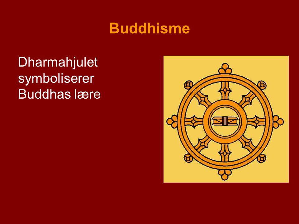 Buddhisme Dharmahjulet symboliserer Buddhas lære