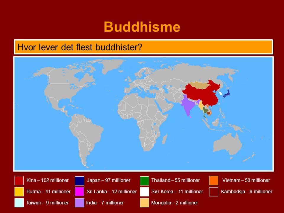 Buddhisme Hvor lever det flest buddhister