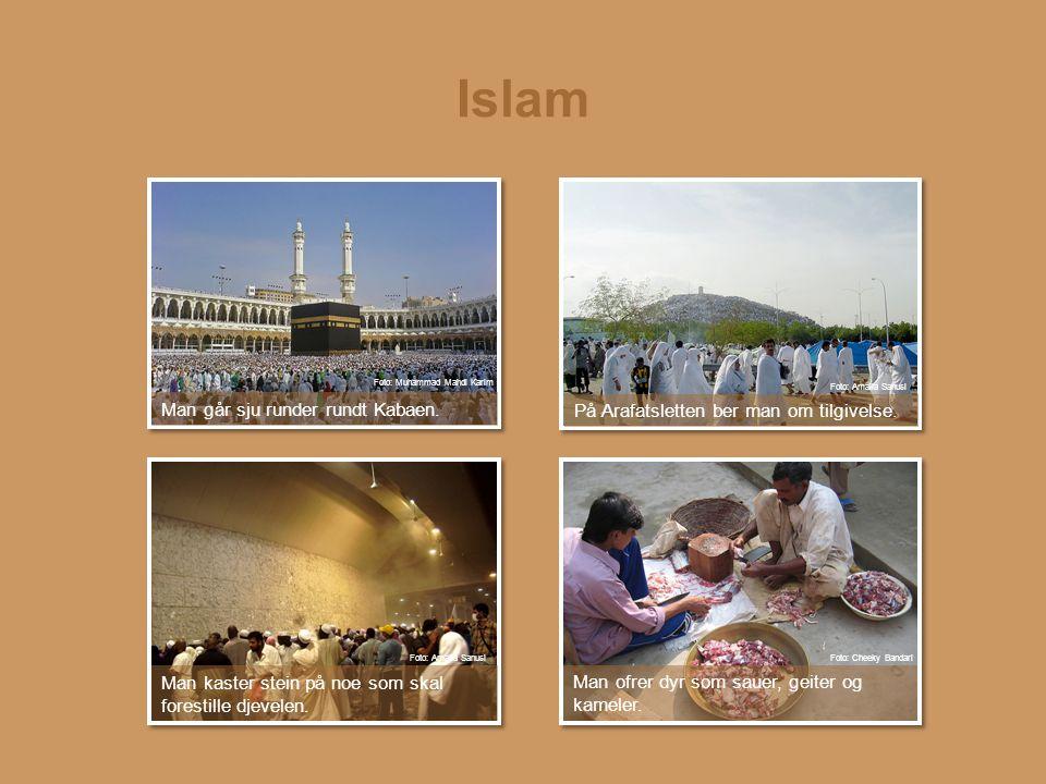 Islam Man går sju runder rundt Kabaen.