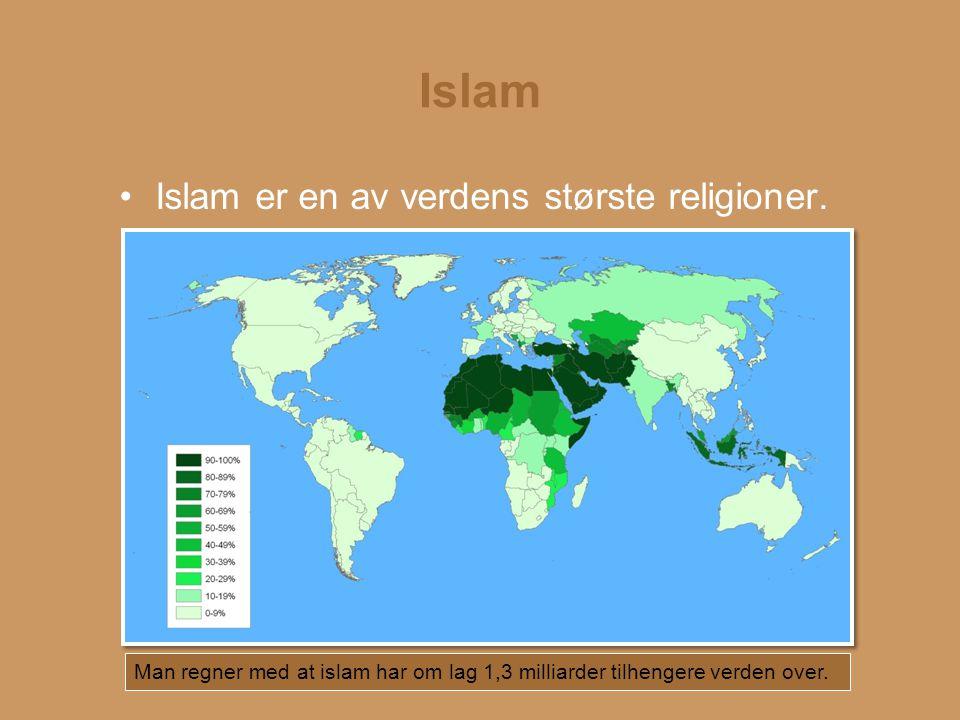 Islam Islam er en av verdens største religioner.