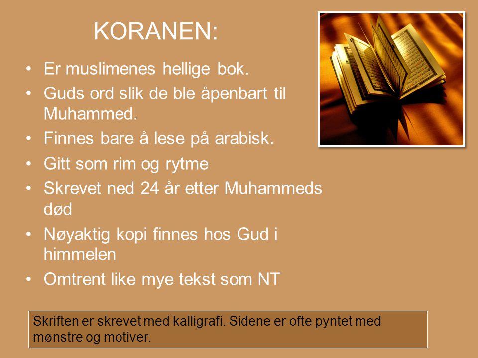 KORANEN: Er muslimenes hellige bok.