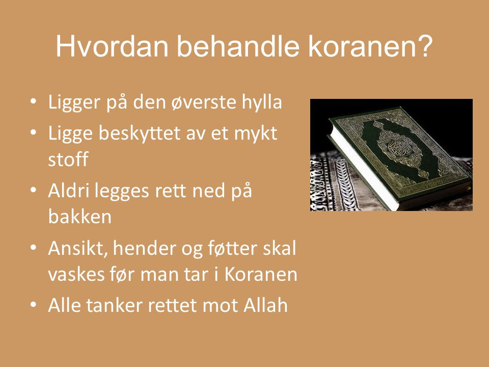 Hvordan behandle koranen