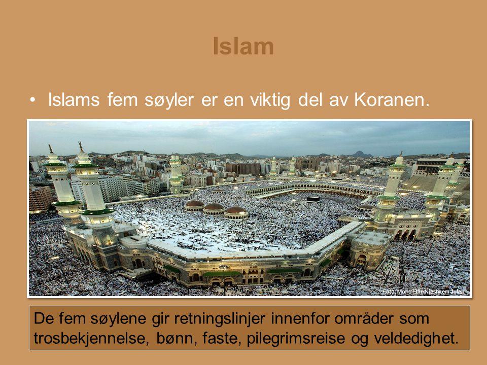 Islam Islams fem søyler er en viktig del av Koranen.