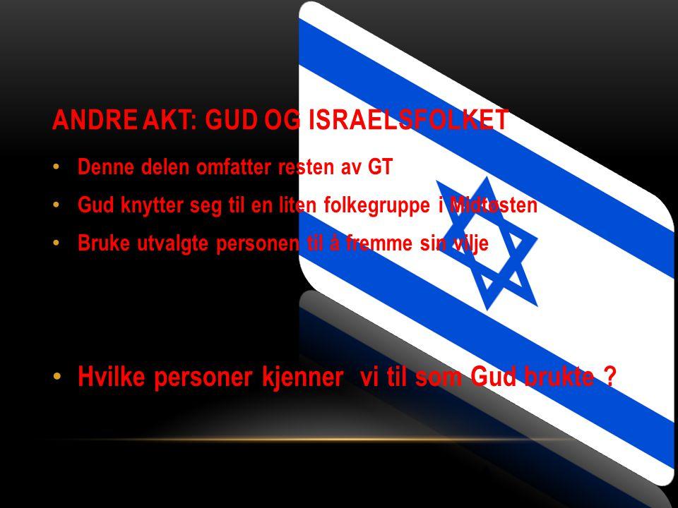 Andre akt: Gud og Israelsfolket