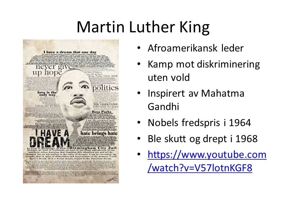 Martin Luther King Afroamerikansk leder
