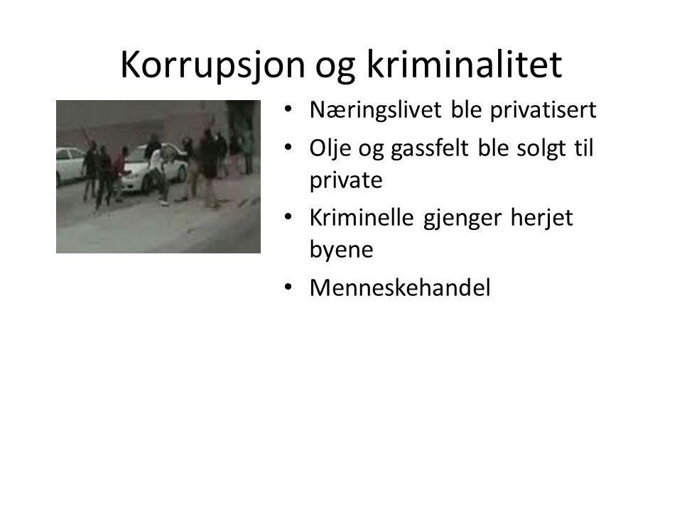 Korrupsjon og kriminalitet