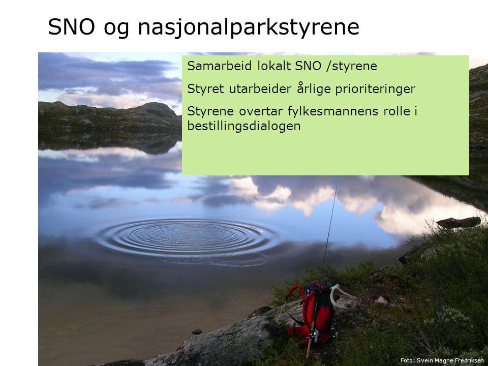 SNO og nasjonalparkstyrene