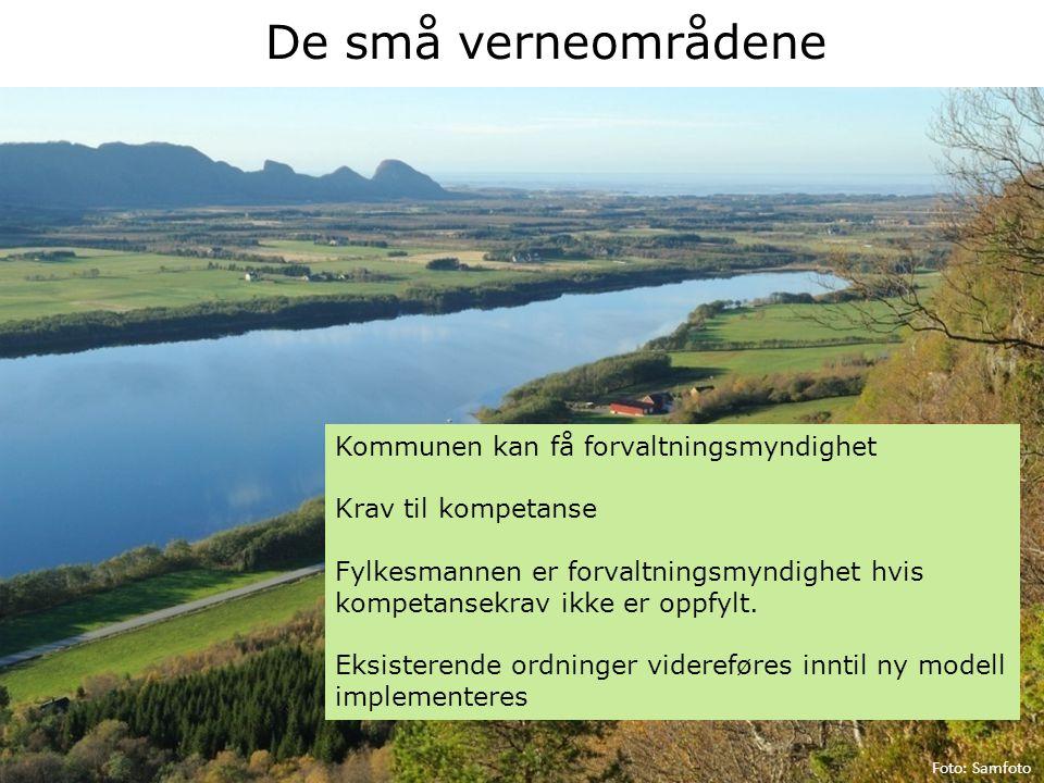 De små verneområdene Kommunen kan få forvaltningsmyndighet