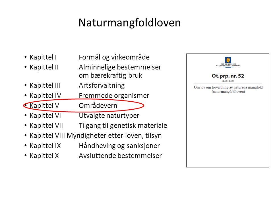 Naturmangfoldloven Kapittel I Formål og virkeområde