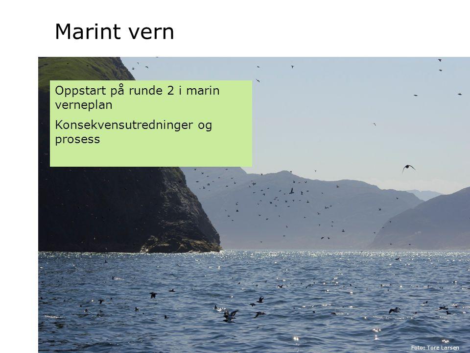 Marint vern Oppstart på runde 2 i marin verneplan