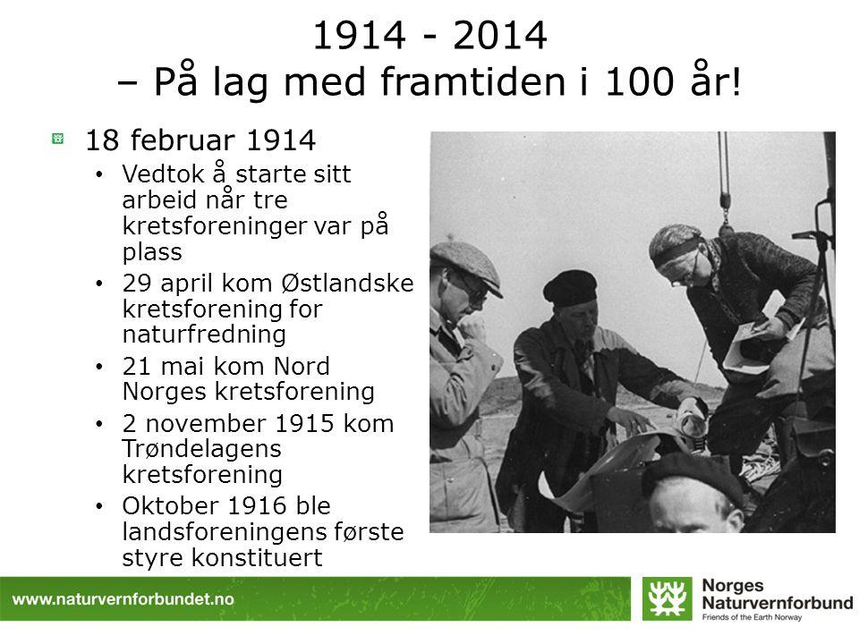 1914 - 2014 – På lag med framtiden i 100 år!