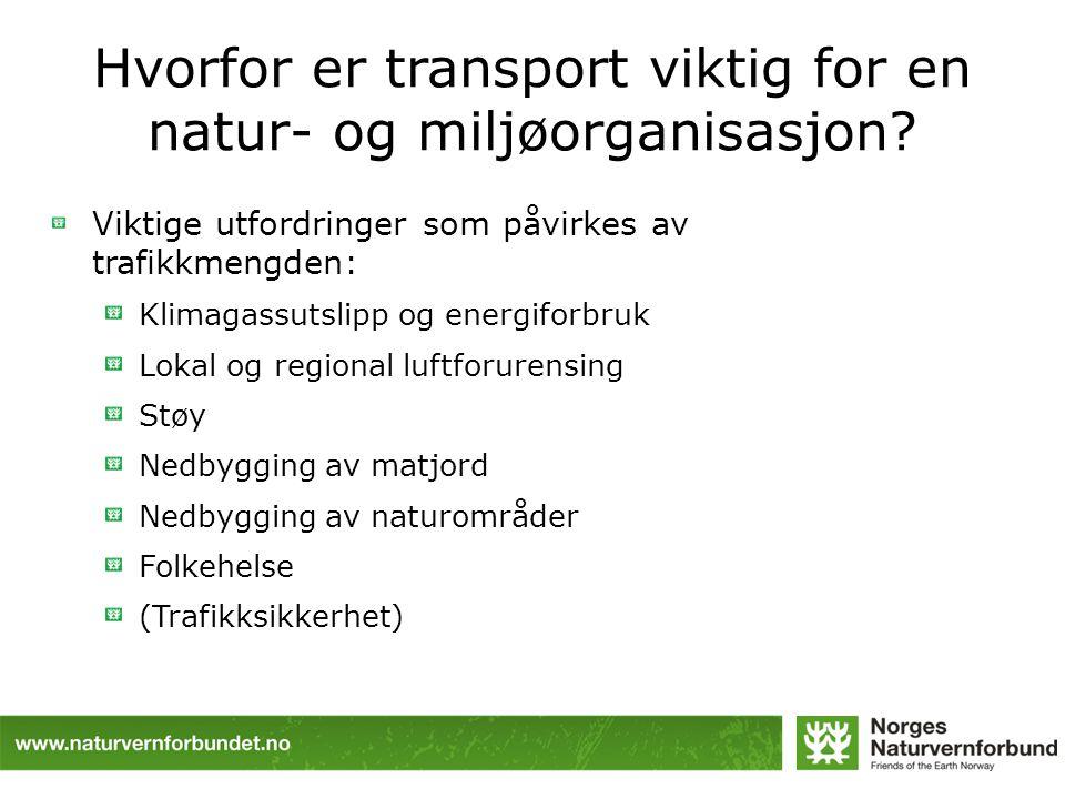 Hvorfor er transport viktig for en natur- og miljøorganisasjon