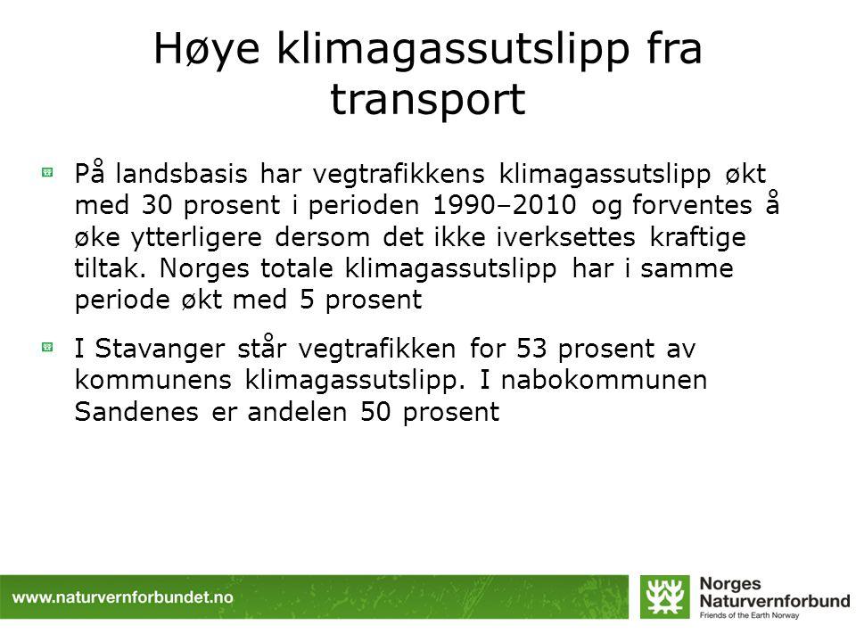 Høye klimagassutslipp fra transport
