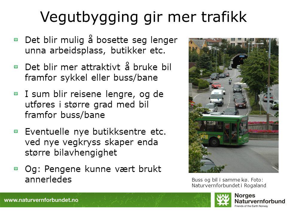 Vegutbygging gir mer trafikk