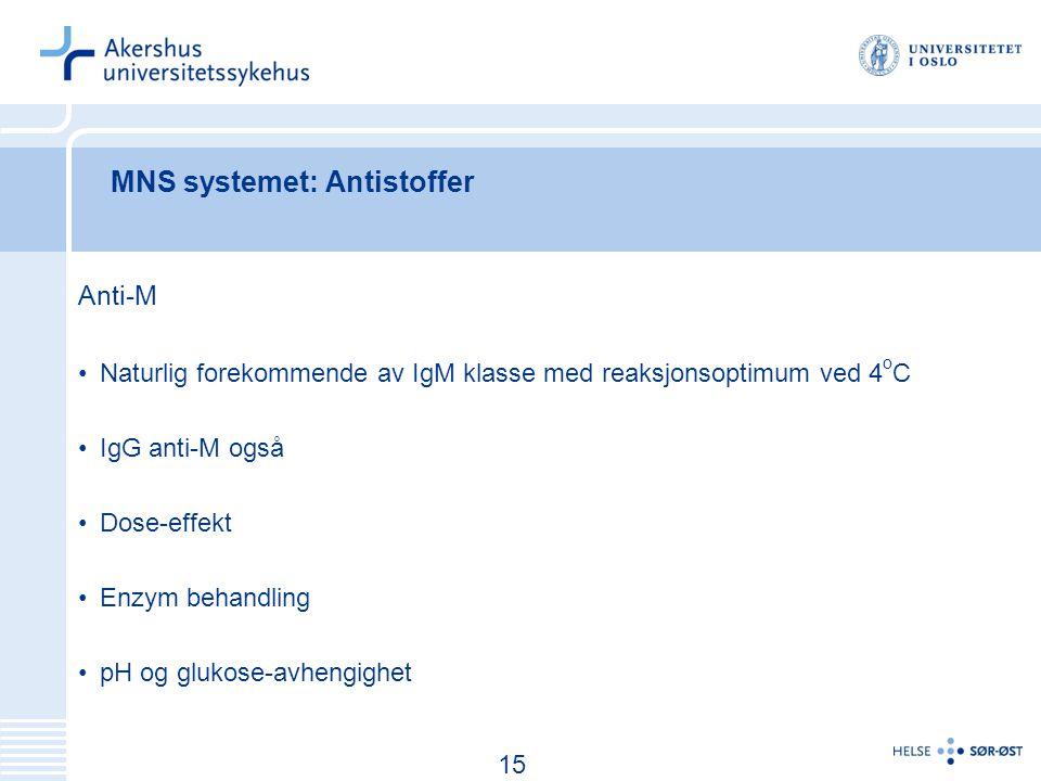 MNS systemet: Antistoffer