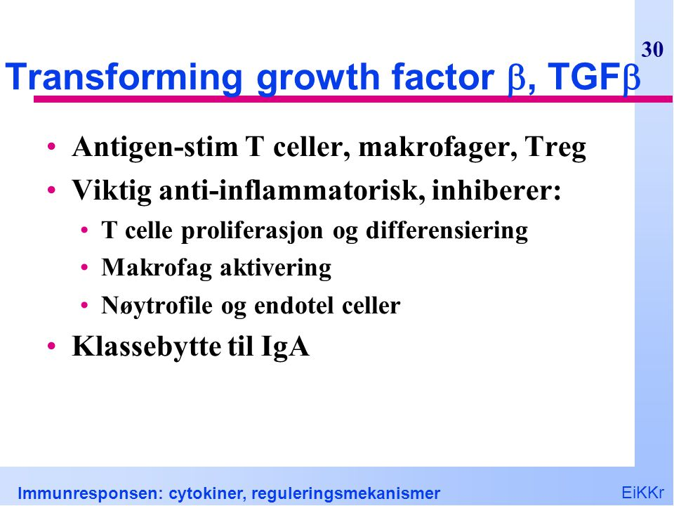 Transforming growth factor , TGF