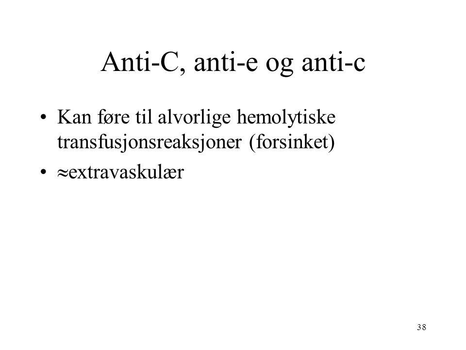 Anti-C, anti-e og anti-c
