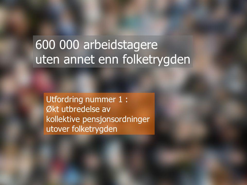 600 000 arbeidstagere uten annet enn folketrygden