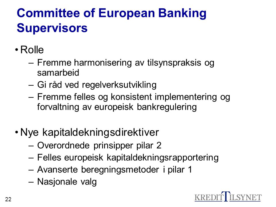 Committee of European Banking Supervisors