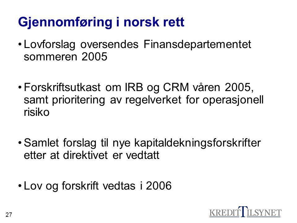 Gjennomføring i norsk rett