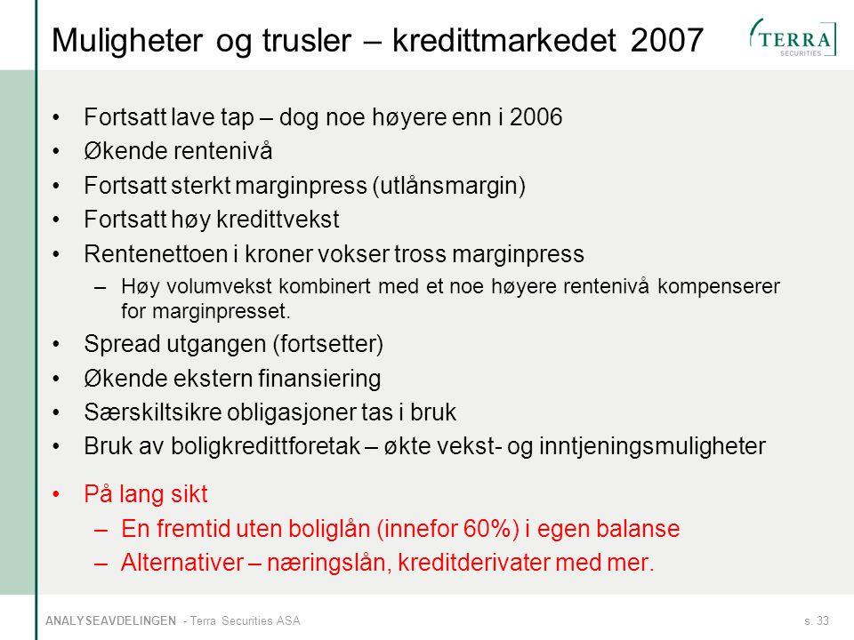 Muligheter og trusler – kredittmarkedet 2007