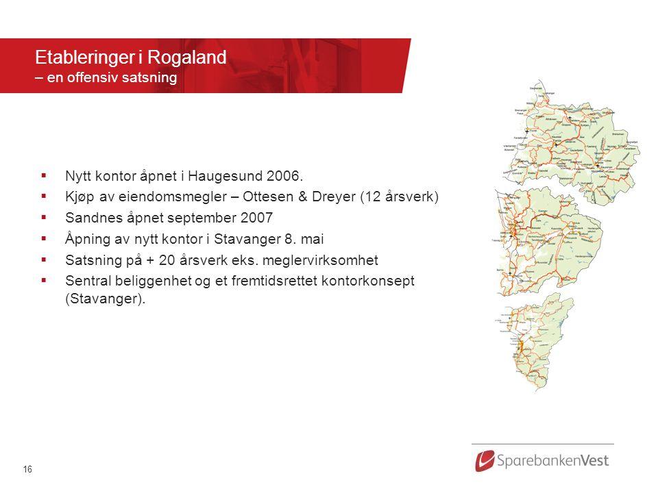 Etableringer i Rogaland – en offensiv satsning