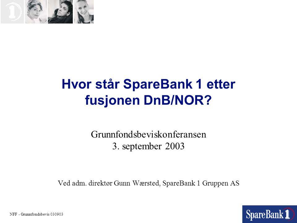 Hvor står SpareBank 1 etter fusjonen DnB/NOR