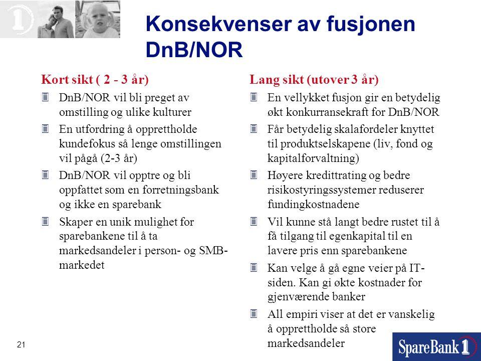 Konsekvenser av fusjonen DnB/NOR