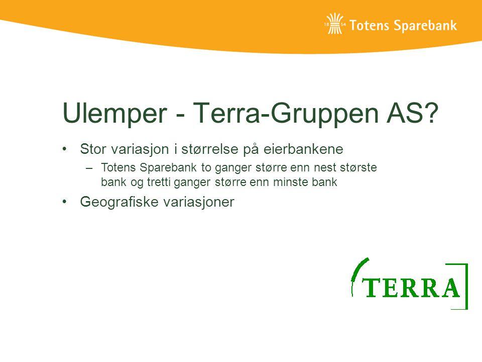 Ulemper - Terra-Gruppen AS