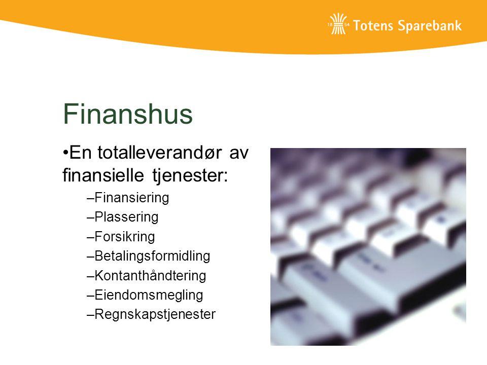 Finanshus En totalleverandør av finansielle tjenester: Finansiering