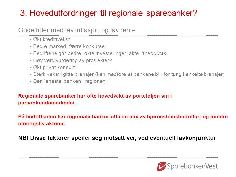 3. Hovedutfordringer til regionale sparebanker
