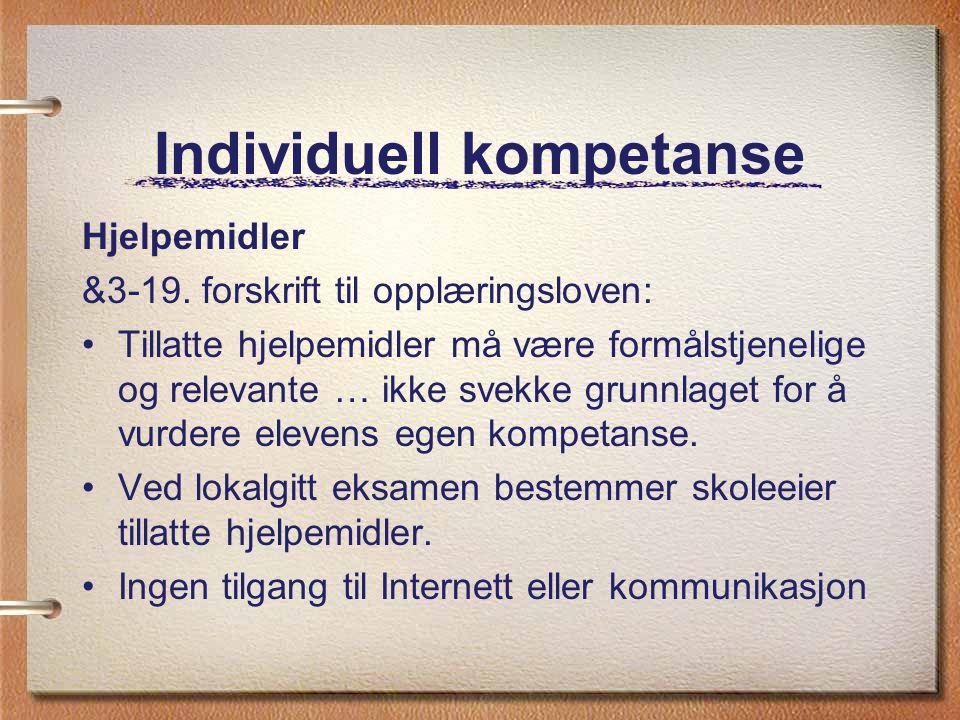 Individuell kompetanse