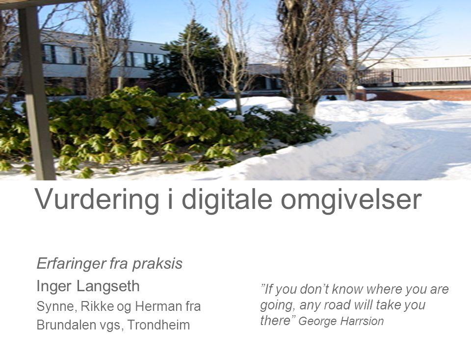 Vurdering i digitale omgivelser