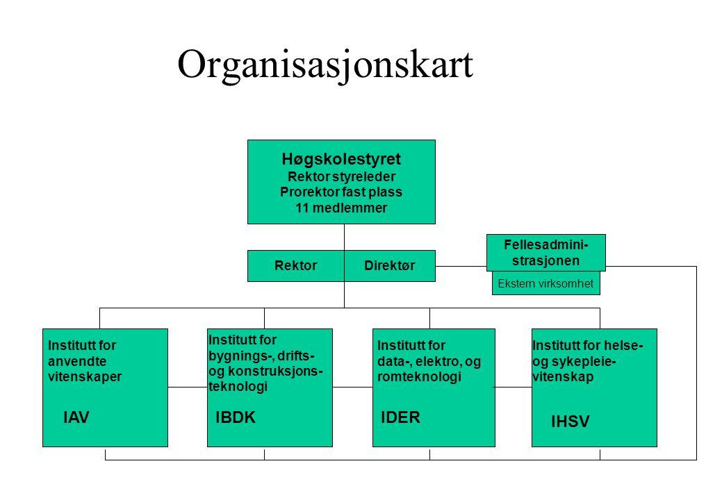 Organisasjonskart Høgskolestyret IAV IBDK IDER IHSV Rektor styreleder