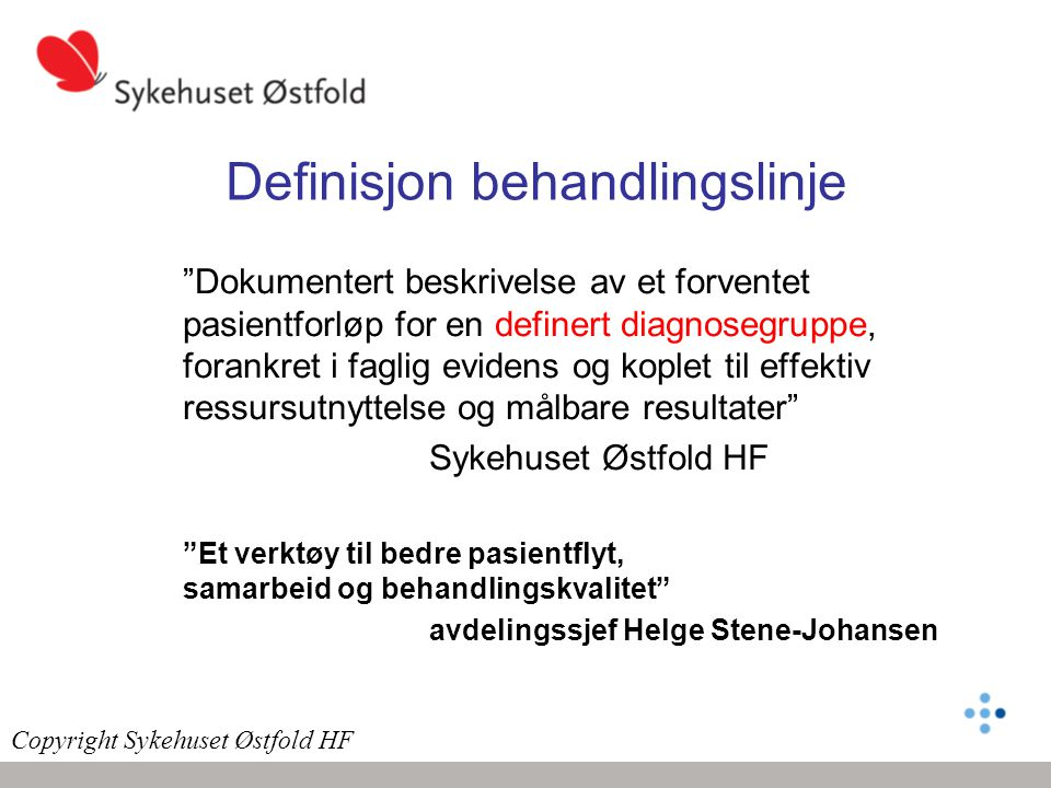 Definisjon behandlingslinje