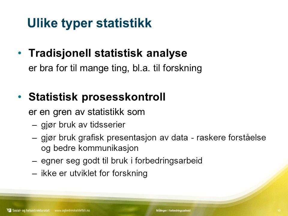 Ulike typer statistikk