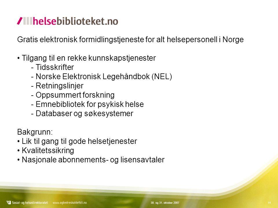 Gratis elektronisk formidlingstjeneste for alt helsepersonell i Norge