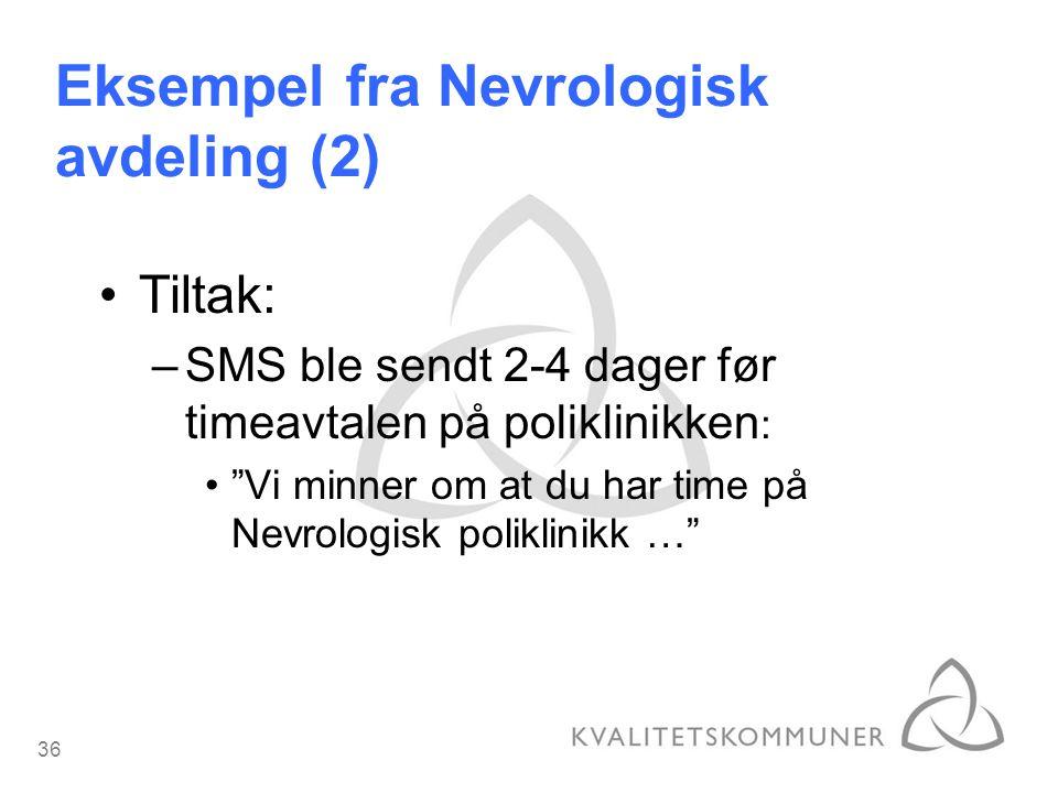 Eksempel fra Nevrologisk avdeling (2)