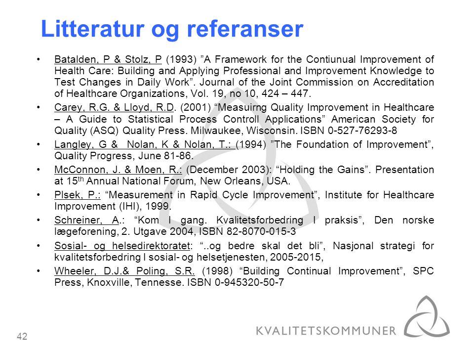 Litteratur og referanser