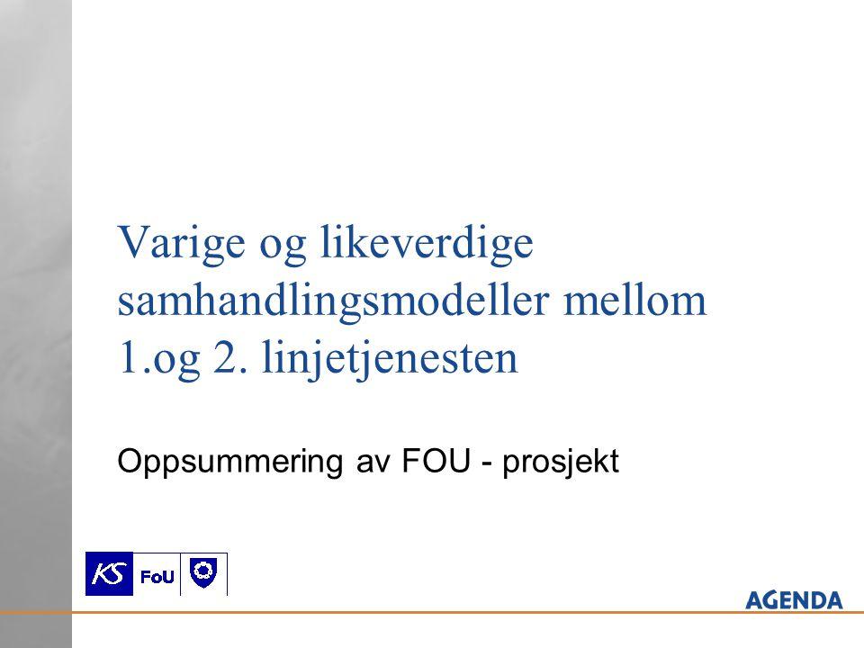 Oppsummering av FOU - prosjekt