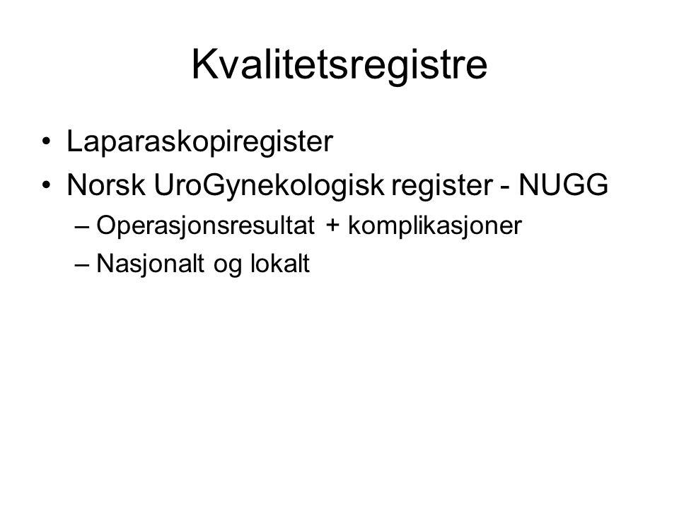 Kvalitetsregistre Laparaskopiregister