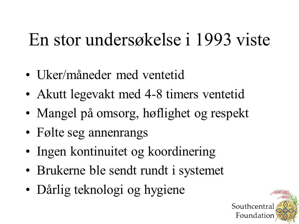 En stor undersøkelse i 1993 viste