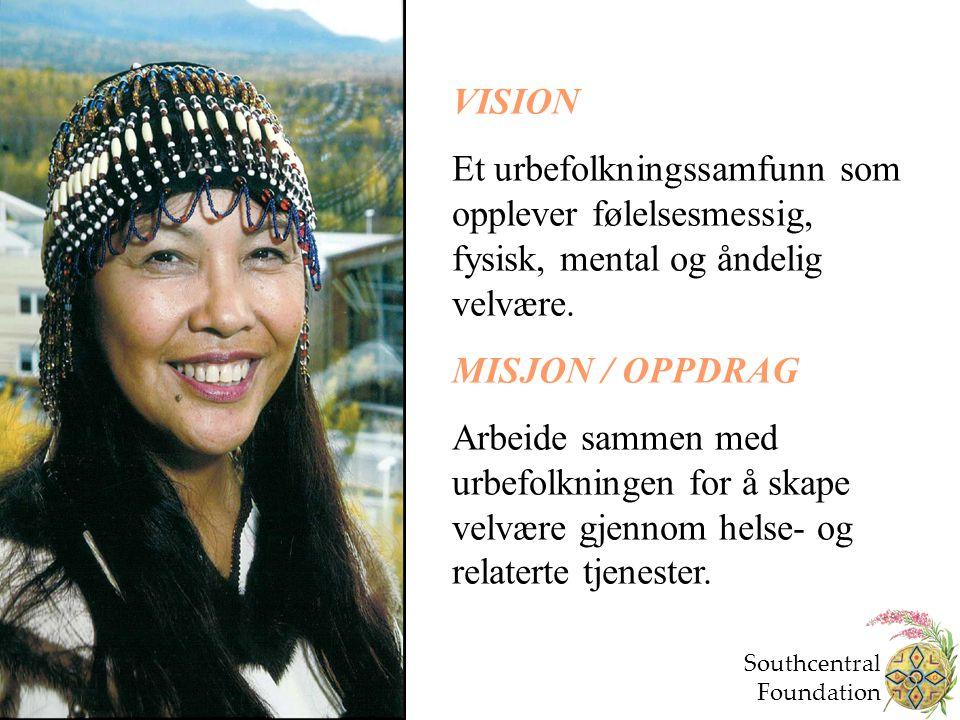 VISION Et urbefolkningssamfunn som opplever følelsesmessig, fysisk, mental og åndelig velvære. MISJON / OPPDRAG.